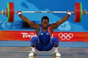 Vencelas Dabaya, vice-champion olympique 2008, à l'arraché